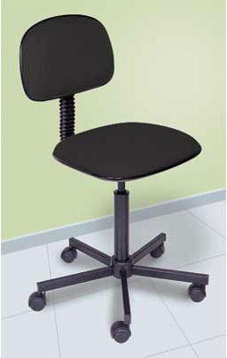 Cadeira Secretária Helicoidal Preta Multivisão