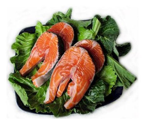 Fresh Cut Salmon Steaks