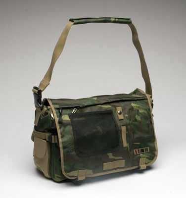 Outdoor Laptop Messenger in Old Camo/ Dark Khaki